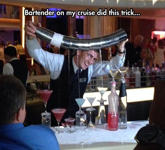 Amazing Bartender Trick
