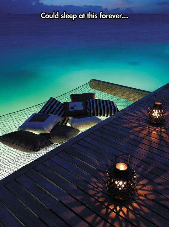 A Bed Over The Ocean