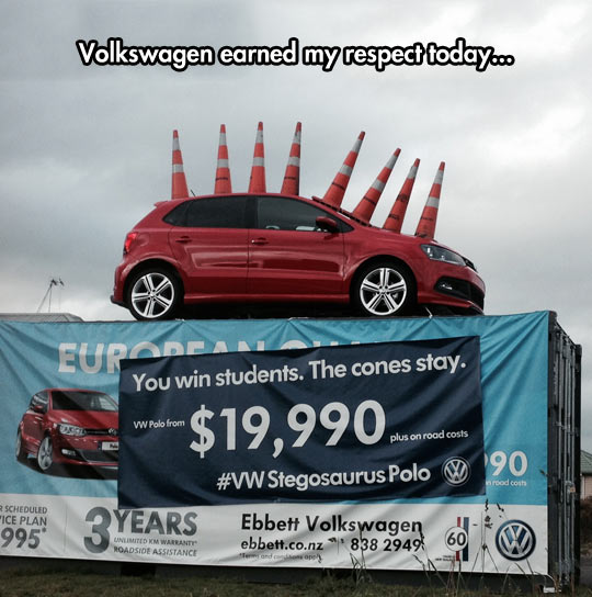funny-car-Volkswagen-price-sign-cones