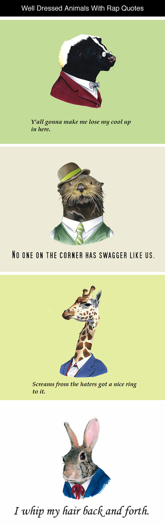Well Dressed Animals With Quotes
