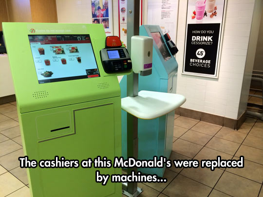 Cashiers Replacement In McDonalds