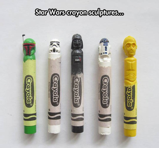 funny-crayon-Star-Wars-sculptures