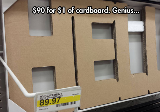 Cardboard Pieces Are Getting Expensive