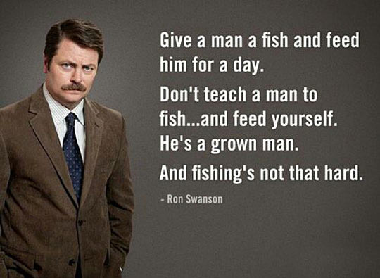 funny-fish-teach-feed-Ron-Swanson
