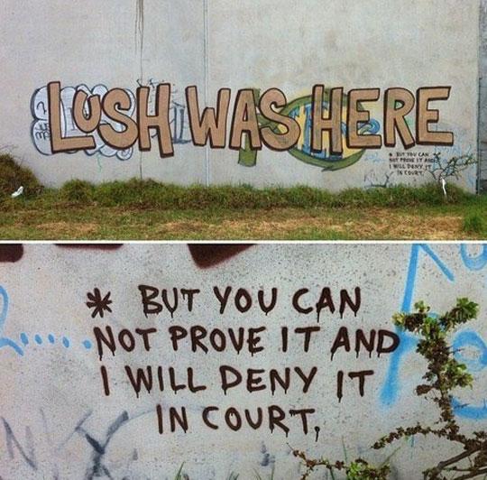 Lawyered Up Graffiti