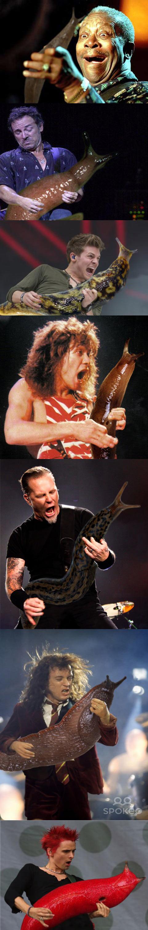 funny-guitar-players-holding-giant-slug-Metallica
