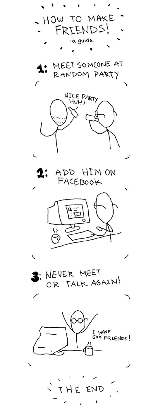 Illustrated Guide Of How To Make Friends