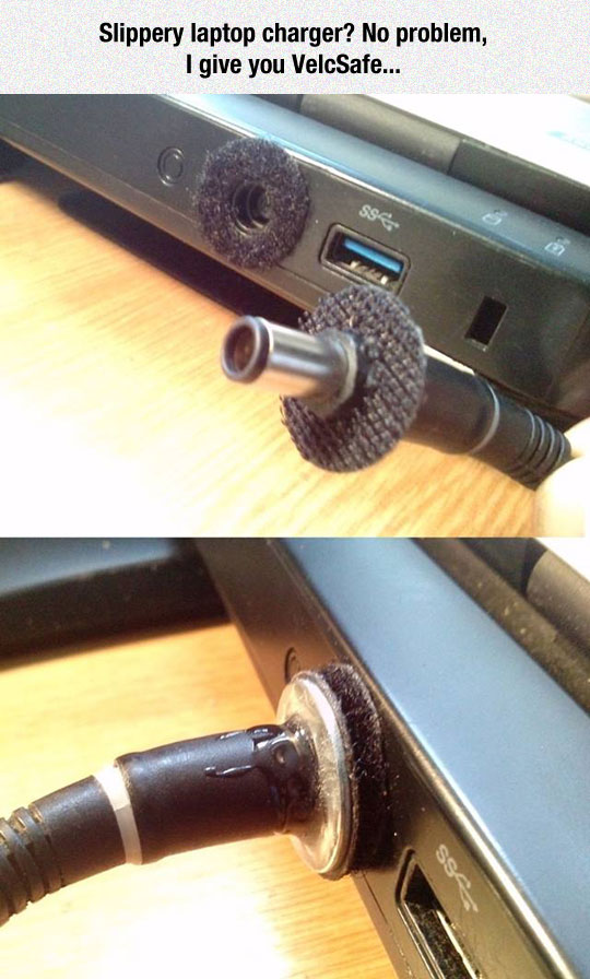 funny-life-hack-laptop-charger-Velcro