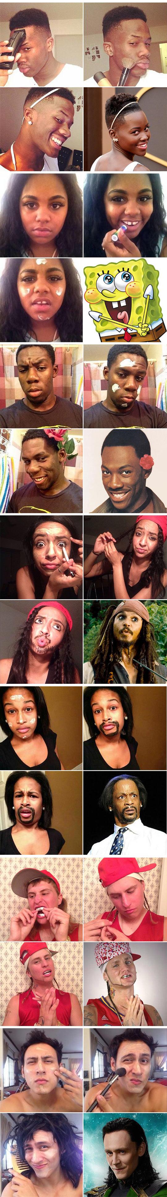 funny-men-makeup-famous-actors-Loki