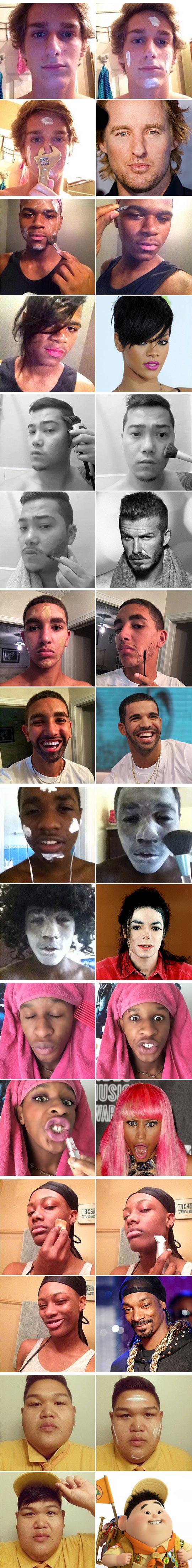 funny-men-makeup-famous-actors-Snoop-Lion
