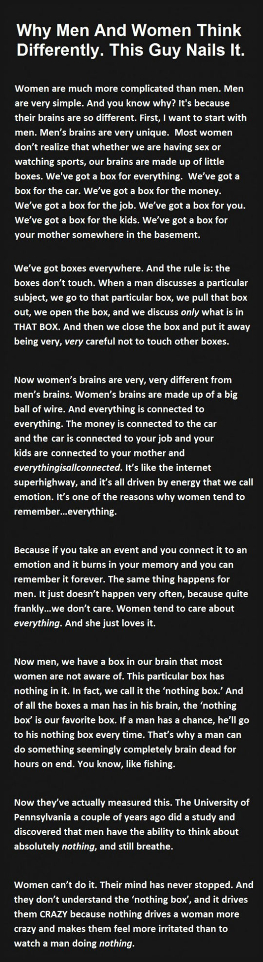 Why Women And Men Think Differently