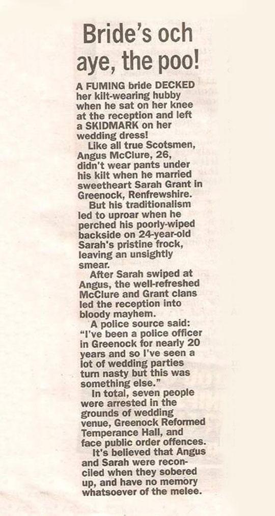 funny-newspaper-wedding-kilt-dirty-dress