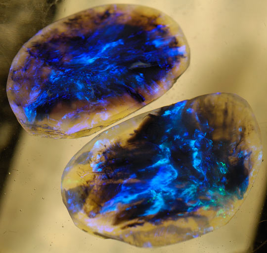 Black Opals Look Like Cosmos