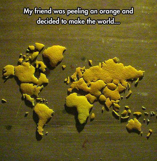 funny-orange-peeling-world-map