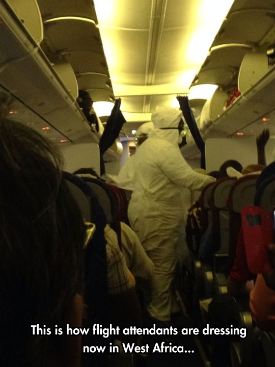 funny-plane-flight-attendants-hazard-suit