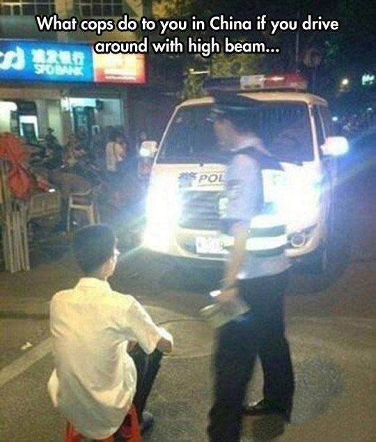funny-police-punishment-lights-China