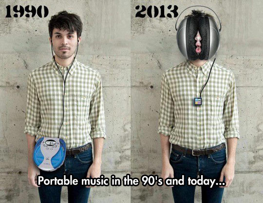 Portable Music Then And Now
