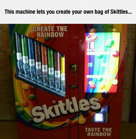 Create Your Own Skittles Bag machine