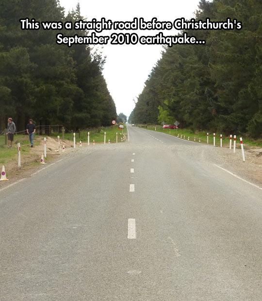 Earthquake Did A Little Detour