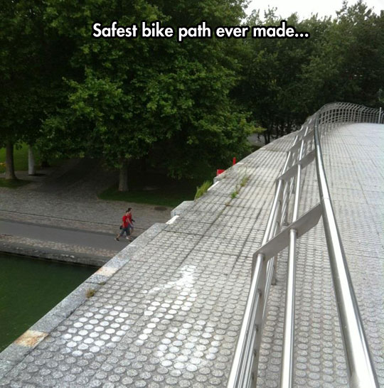 Bike Path In Parc De La Villette, Paris