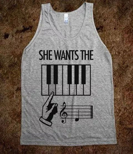 She Actually Wanted A Pianist
