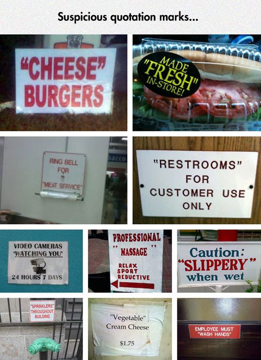 The Most Suspicious Signs I Ever Read