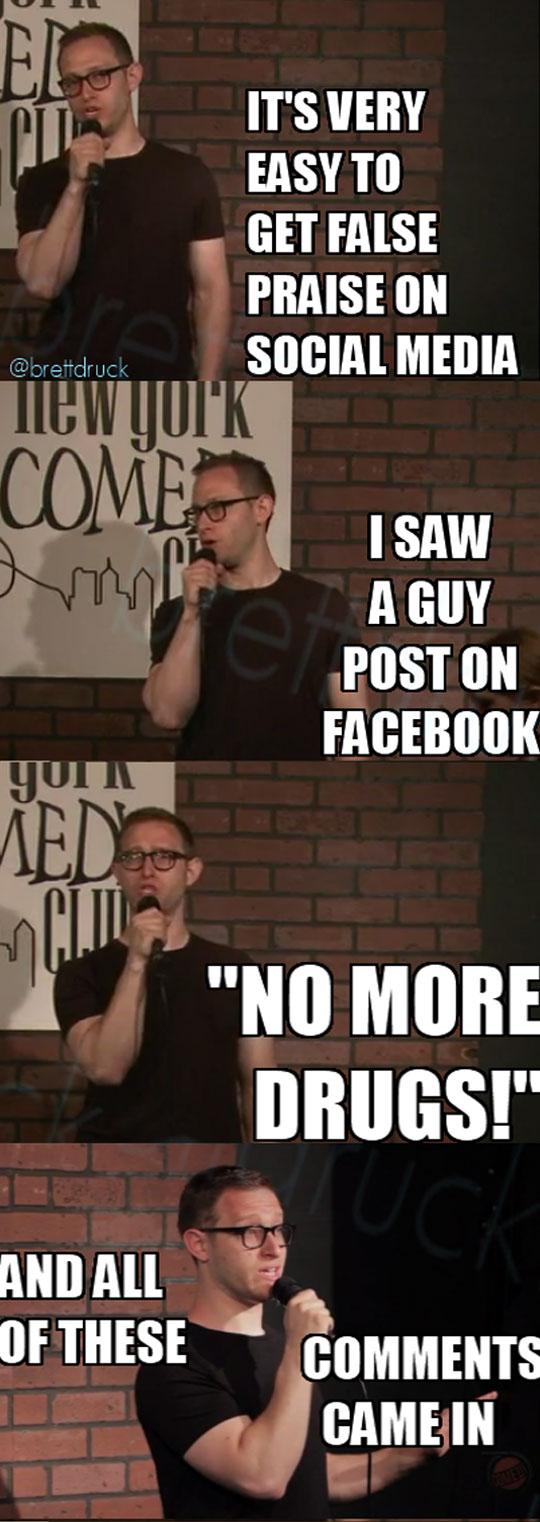 False Praise On Social Media