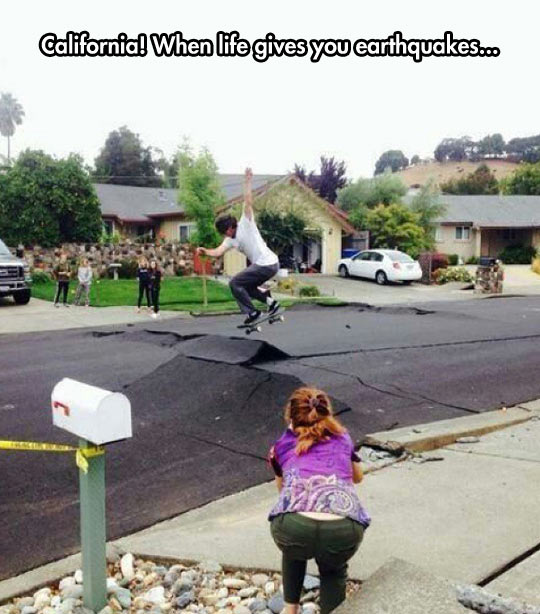 Skaters Know How To Take Advantage Of Every Situation