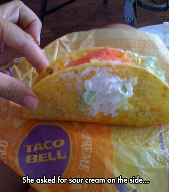 funny-taco-sour-cream-side