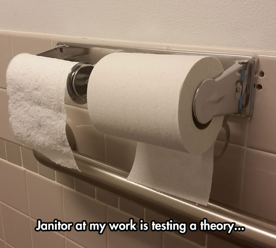 Janitor Experiment With toilet paper