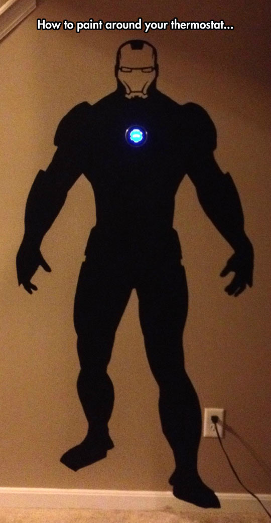 funny-wall-painting-thermostat-Iron-Man