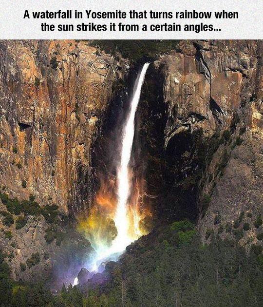 Breathtaking Rainbow Waterfall