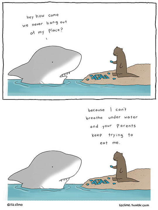 funny-webcomic-shark-friends-water