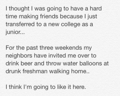 Ah, college.