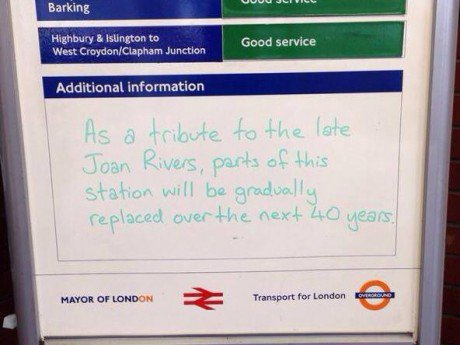 The underground has a sense of humour