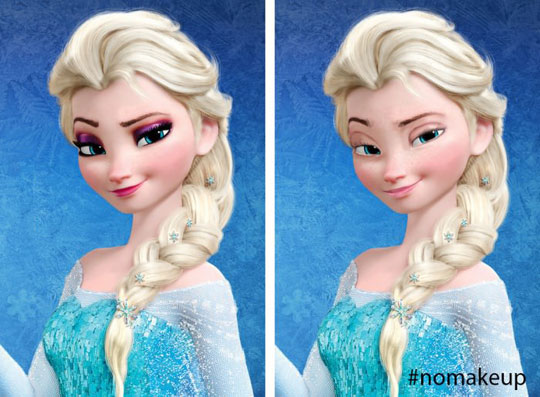 Queen Elsa Without Makeup