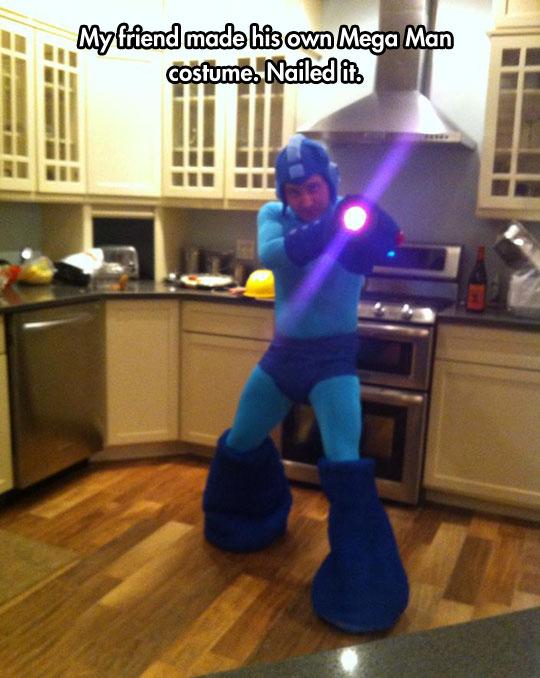Amazing Homemade Mega Man Costume