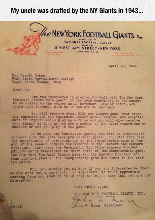 An Amazing NFL Document