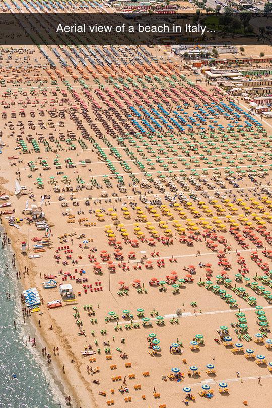 Perfectly Organized Beach
