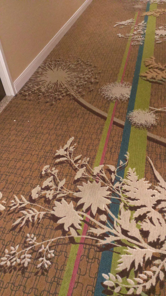 Hotel Carpet With Shadow Effect