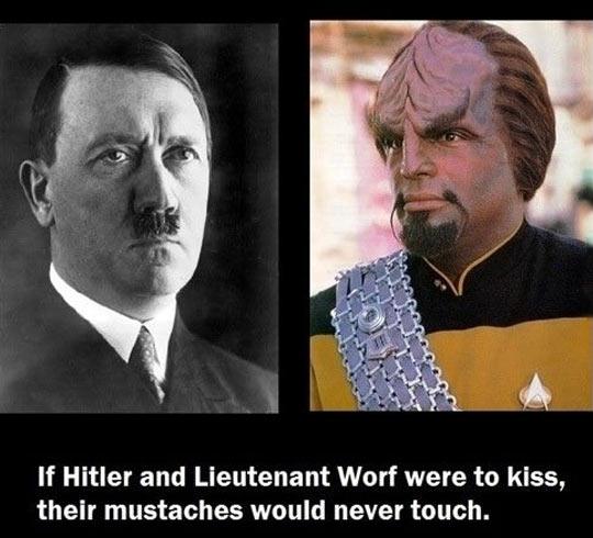 funny-Adolf-Lieutenant-Worf-kiss-mustaches