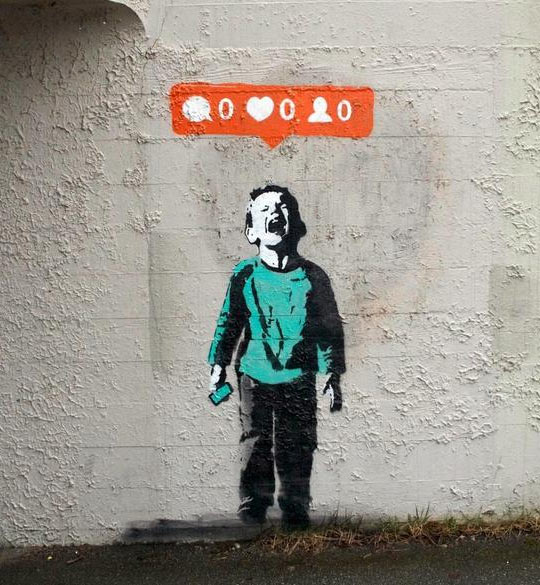 Banksy On Social Network Madness