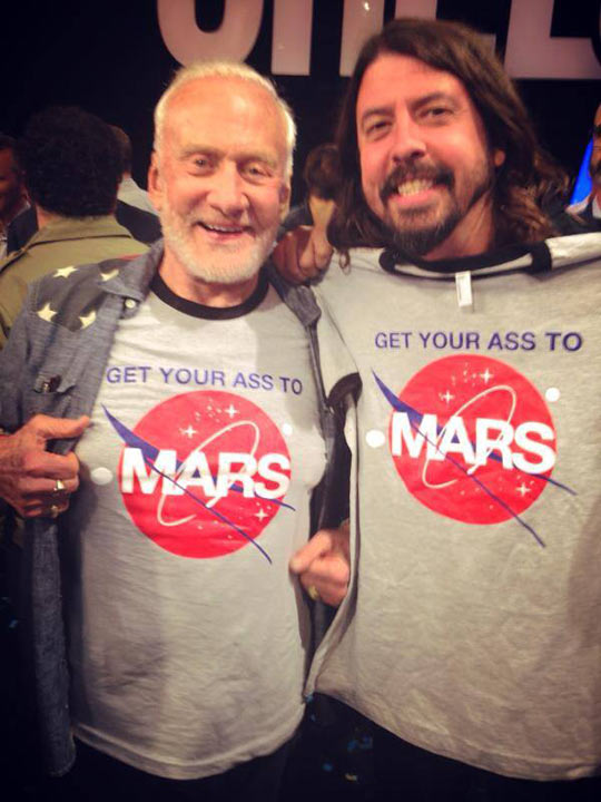 Buzz Aldrin And Dave Grohl