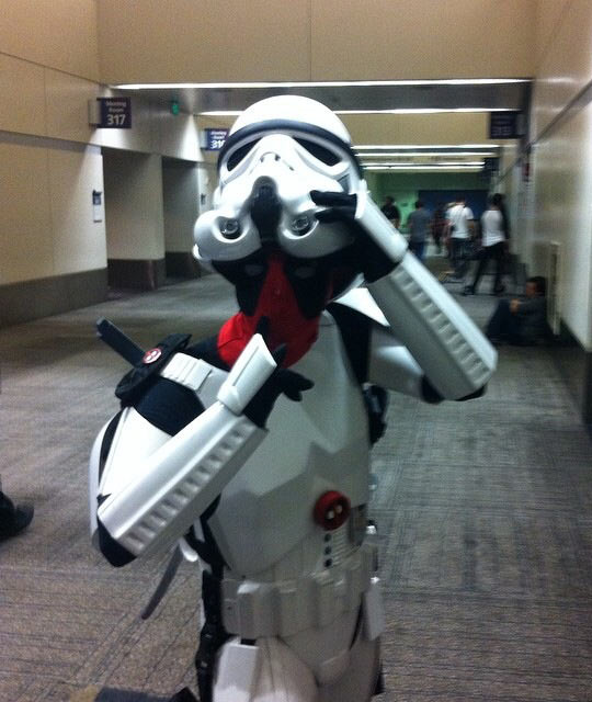 Deadpool Disguised As A Stormtropper