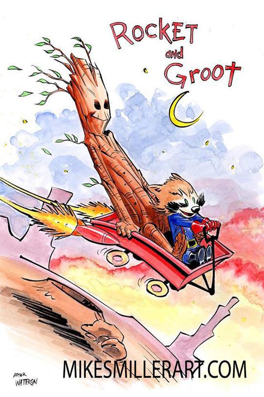 funny-Focket-Groot-as-Calvin-Hobbes