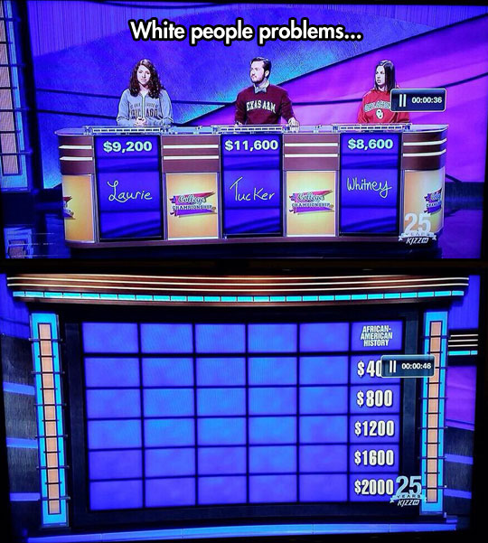 The Whitest Jeopardy You