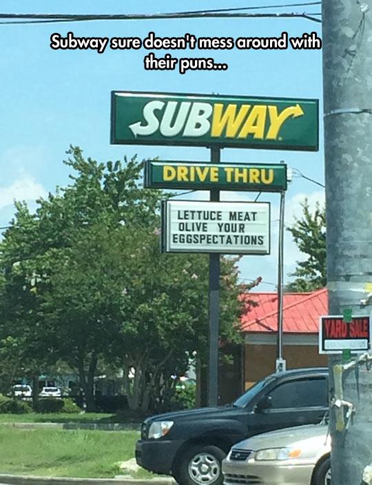Subway Goes Ham On Their Puns