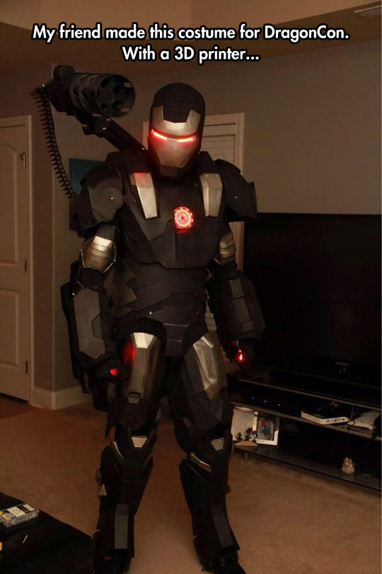 War Machine Suit Made In A 3D Printer