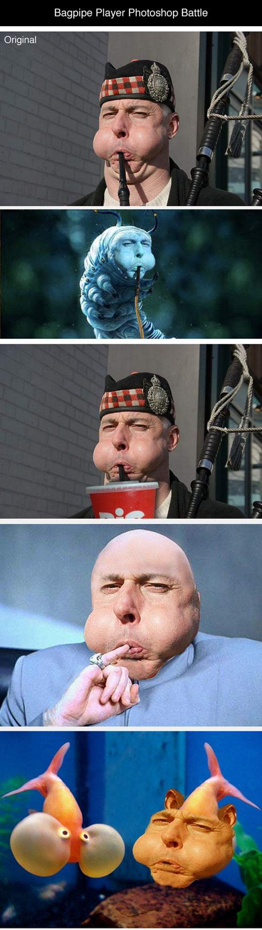 Bagpipe Player Photoshop Battle