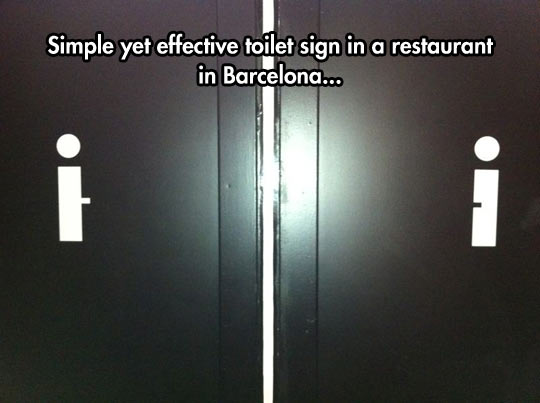 Effective Toilet Sign